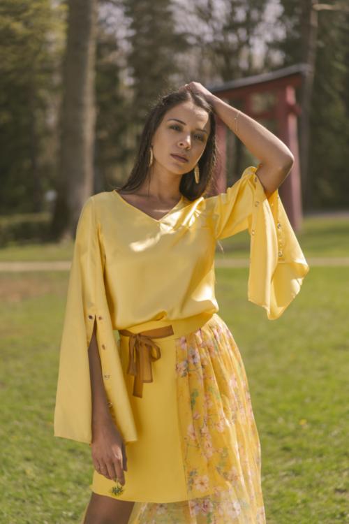 manche longue jaune