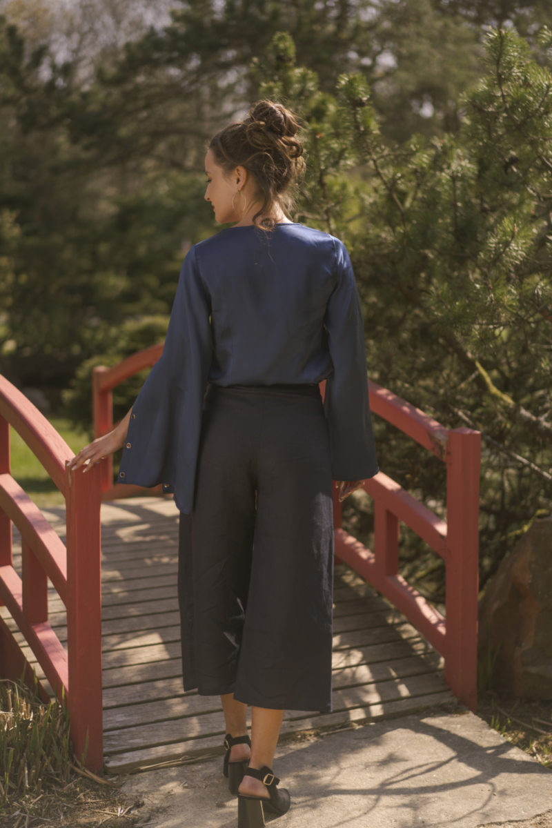 pantalon bleu nuit