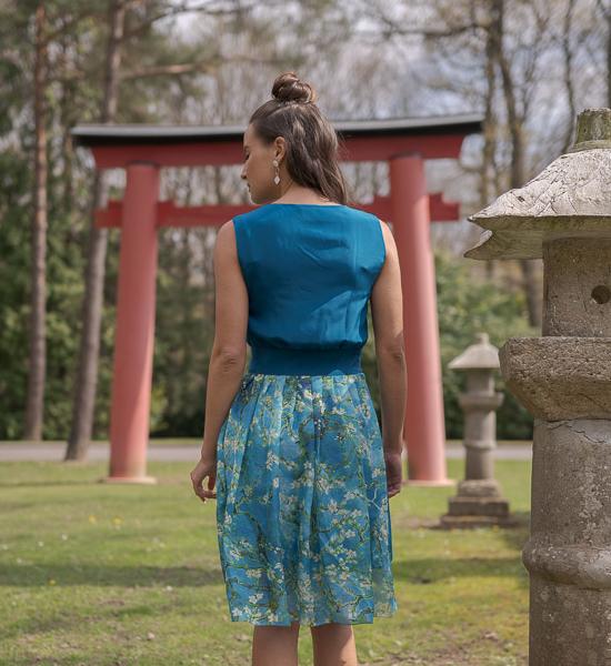 Robe en soie Turquoise